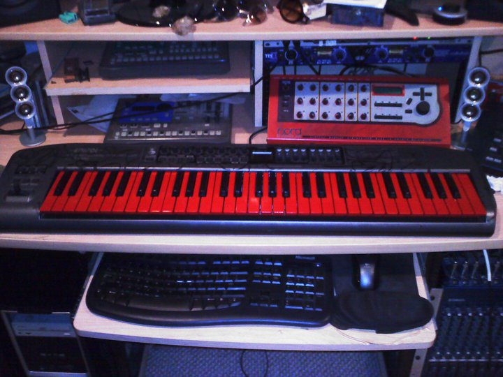 Custom Edirol PCR M80 Red Keys MIDI Controller