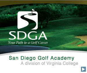 San Diego Golf Academy 300 x 250 streaming companion web ad