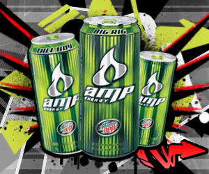 Mountain Dew Amp Energy Drink 300 x 250 web ad