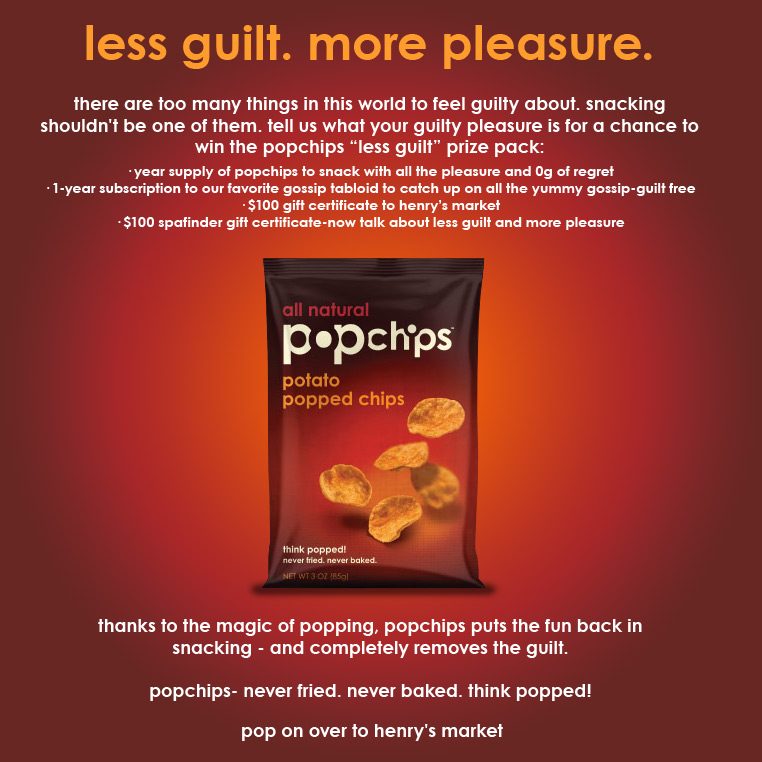 Pop Chip Web Landing Page Ad