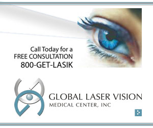 Global Laser Vision 300 x 250 streaming companion web banner ad