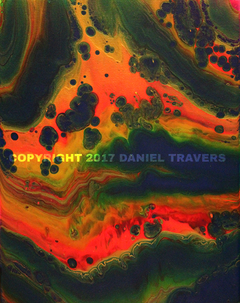 Abstract Art Fluid Painting by Daniel Travers