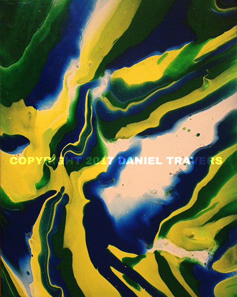Abstract Art Fluid Acrylic Painting by Daniel Travers