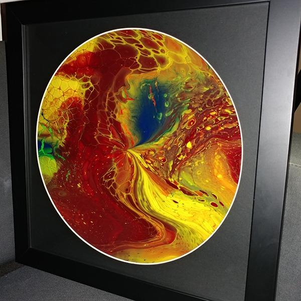 abstract art vinyl record framed